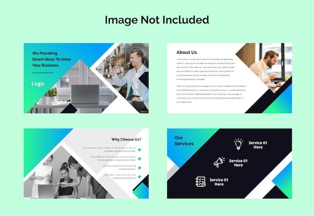 Presentazione del modello di diapositive di presentazione business powerpoint