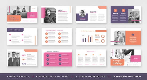 Brochure di presentazione aziendale guida alla progettazione o al modello di diapositiva della presentazione delle presentazioni o alla guida alle vendite