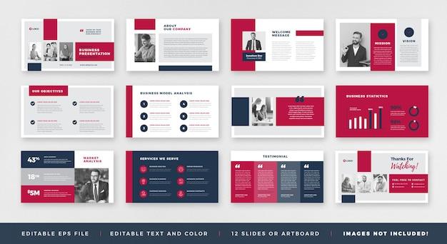 Progettazione o powerpoint della guida dell'opuscolo di presentazione aziendale