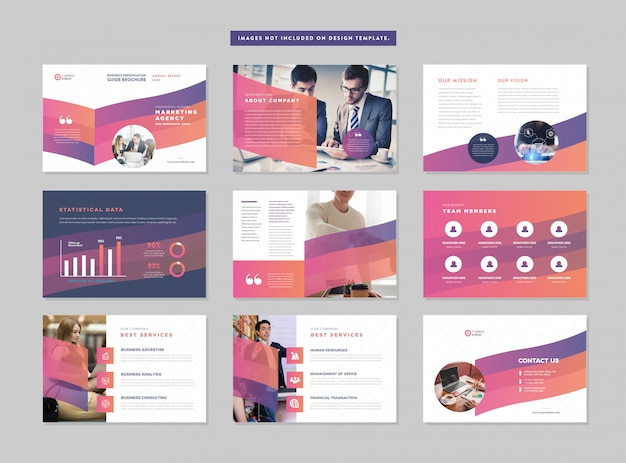 Guida alla presentazione aziendale design   modello di diapositiva powerpoint   cursore della guida alle vendite