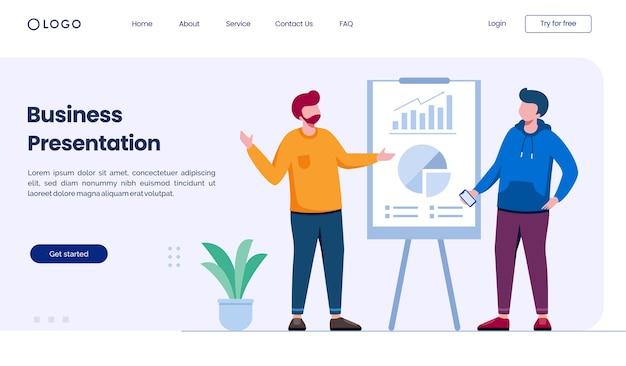 Sito web della pagina di destinazione della presentazione aziendale