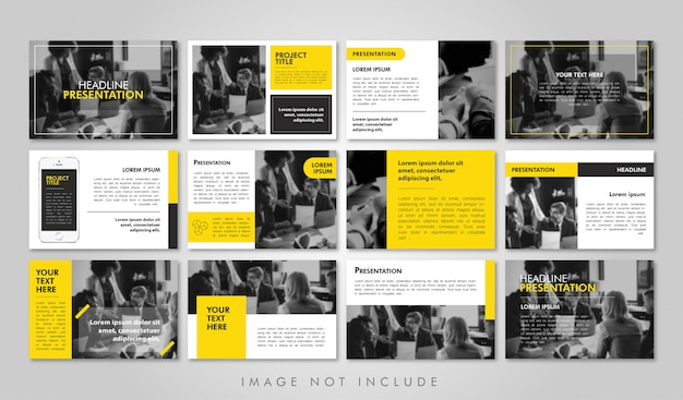 Business presentation pack stampabile