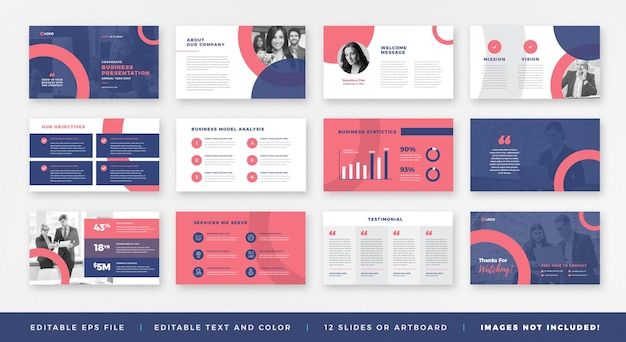 Presentazione aziendale, modello di diapositiva