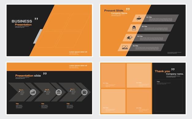 Modelli di diapositive di presentazione aziendale da elementi infografici illustrazione stock presentazione diapositive