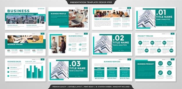 Modello di presentazione aziendale con uno stile pulito