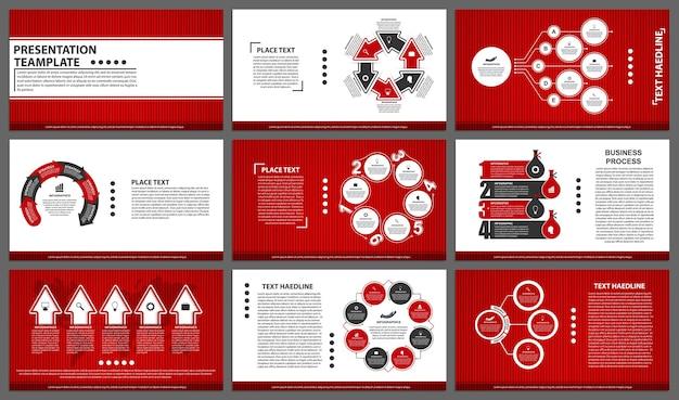 Modelli di presentazione aziendale elementi moderni di infografica