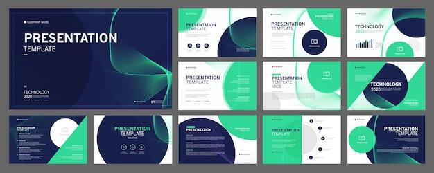 I modelli di presentazione aziendale vengono utilizzati nel volantino di presentazione e nel rapporto aziendale dell'opuscolo