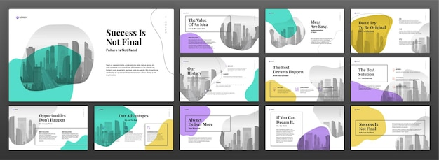 Set di modelli di presentazione aziendale.