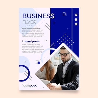Modello di stampa aziendale con foto
