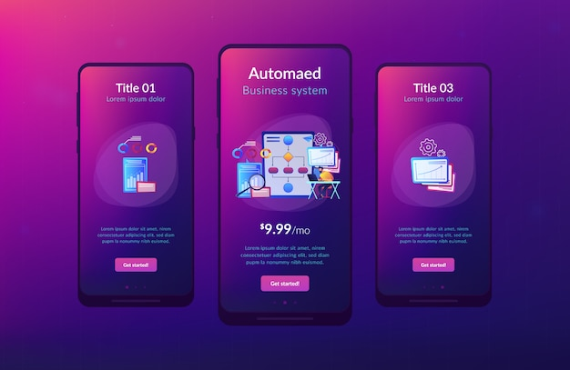 Modello di interfaccia app per l'automazione dei processi aziendali (bpa)