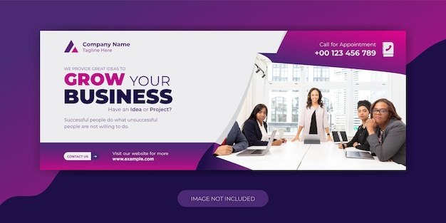 Promozione aziendale e modello di copertina facebook aziendale design