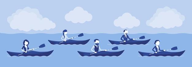 Regata d'affari in kayak