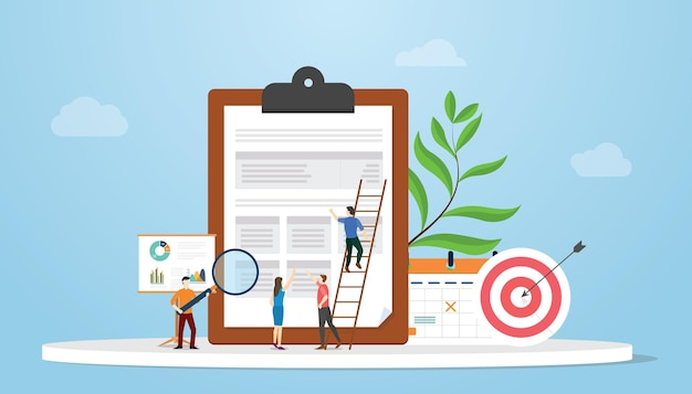 Analisi dei requisiti aziendali con il team che lavora sull'analisi dei dati