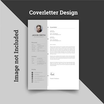 Modello di design per lettera di presentazione aziendale e curriculum