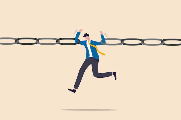 Rischio aziendale, vulnerabilità, pericolo e debolezza o conflitto che causa il fallimento nel business