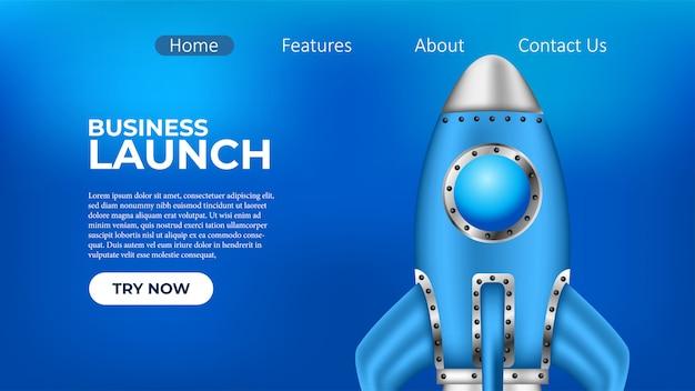 Pagina di atterraggio del business rocket launch project