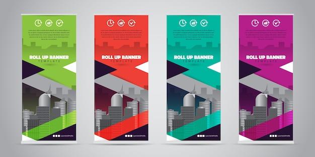 Affari roll up banner. standee design