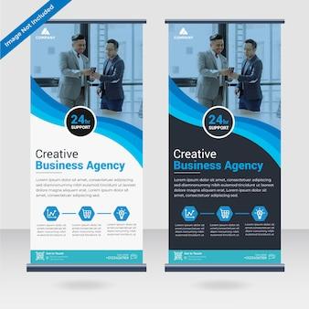 Modello di progettazione banner standee roll up aziendale