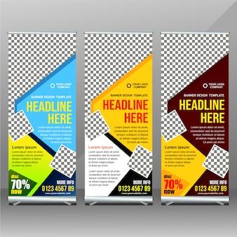 Idea di design banner business rollup