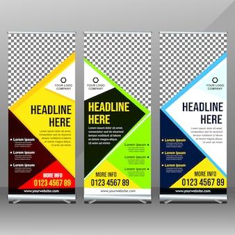 Design del banner di business rollup