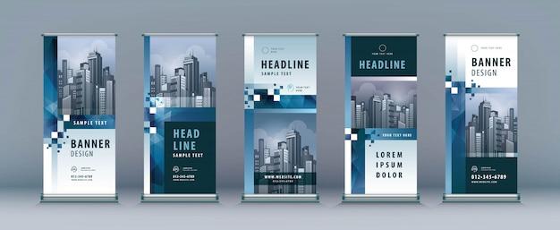 Set di rollup aziendali. standee design. modello xbanner
