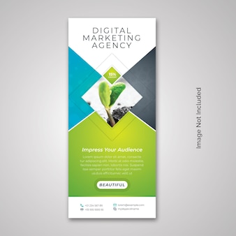 Business rollup x-banner con abstract