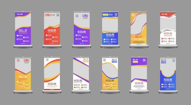 Business rollup xbanner modello verticale design