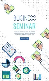 Modello di seminario di affari