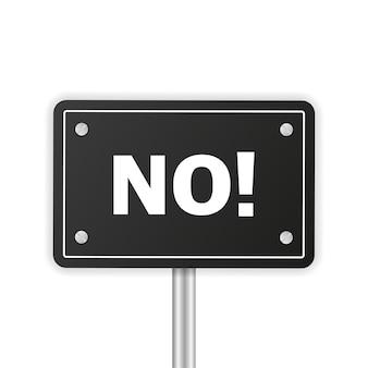Segno aziendale sì o no e fare o non consigliare sfondo bianco supporto per la soddisfazione aziendale