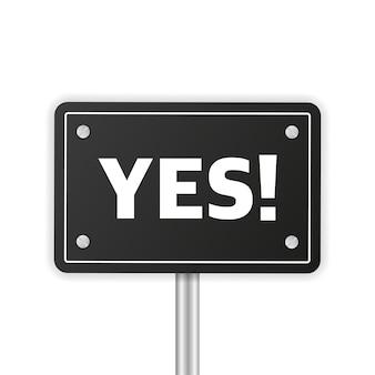 Segno aziendale sì o no e fare o non consigliare sfondo biancosupporto per la soddisfazione aziendale