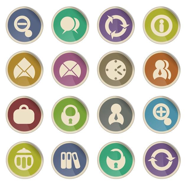 Business semplicemente simbolo per le icone web