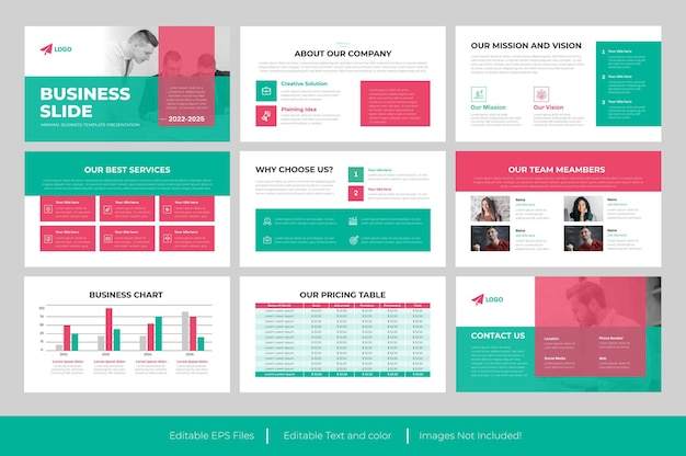 Modello di presentazione powerpoint di diapositive aziendali