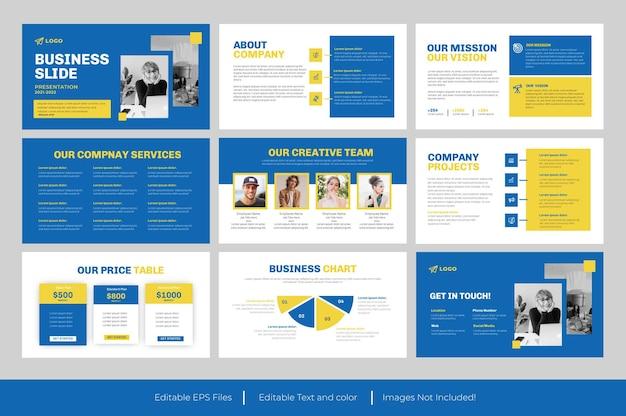 Modello di presentazione powerpoint di diapositiva aziendale