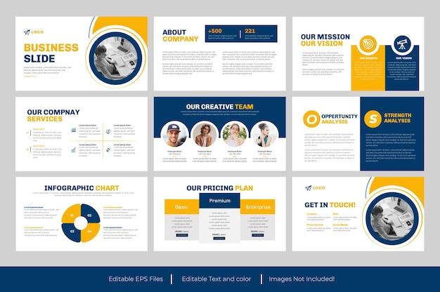 Modello powerpoint di diapositiva aziendale