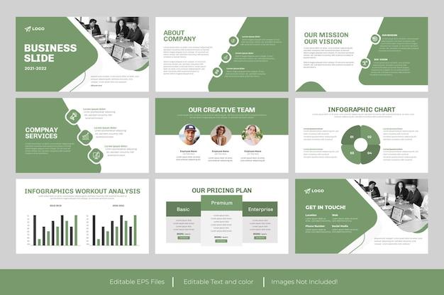 Modello di presentazione diapositiva aziendale