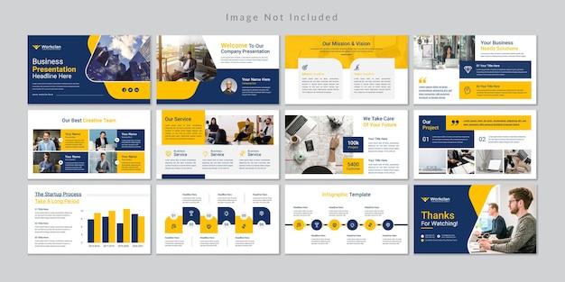 Modello di presentazione di diapositive aziendali