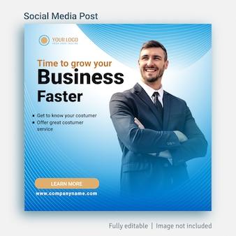 Business social media post pubblicità modello di progettazione
