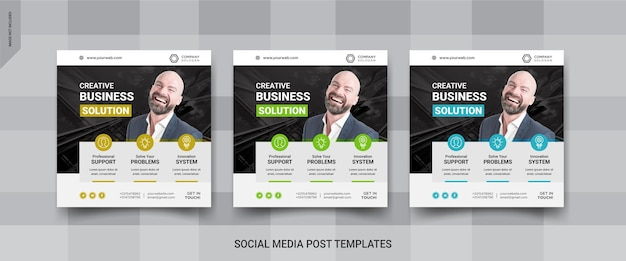 Business social media post template design