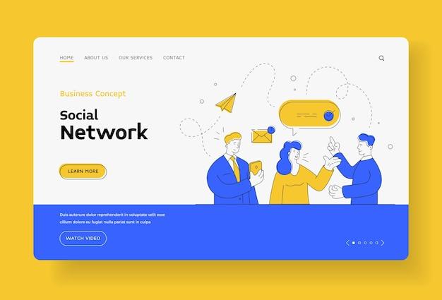 Comunicazione di rete sociale aziendale