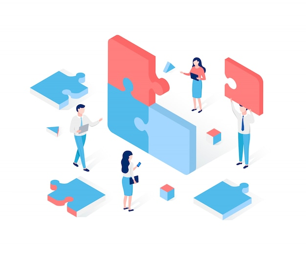 Soluzione aziendale nel concetto di partnership