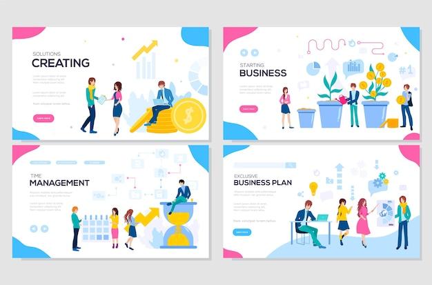 Illustrazione di soluzioni aziendali