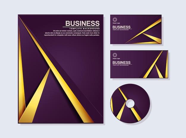 Estratto della cancelleria di affari nel colore dell'oro viola