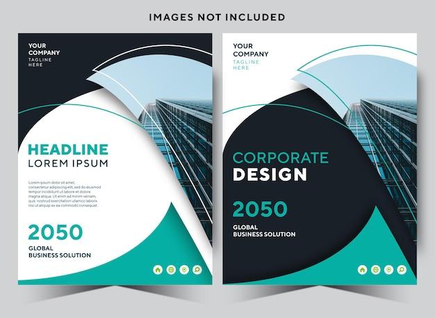 Modello di disegno di copertina del libro di cancelleria aziendale