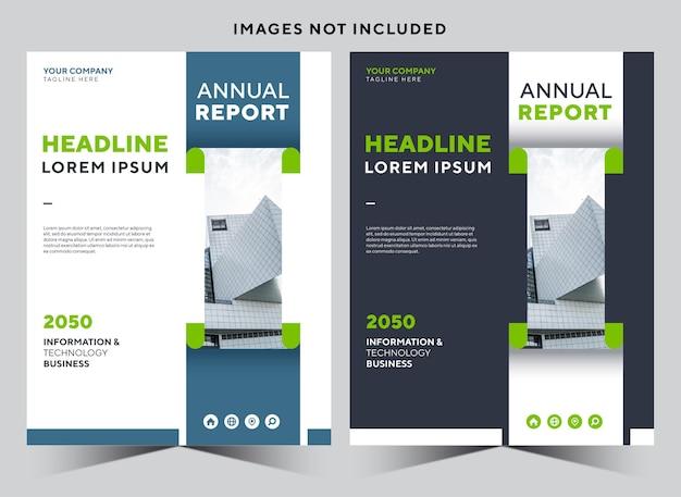 Modello di progettazione di libri di copertina di cancelleria aziendale