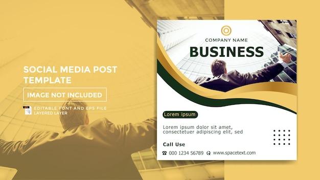 Modello di post sui social media a tema di studio aziendale