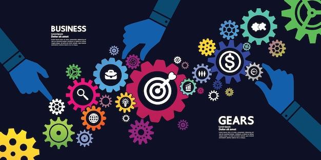 Illustrazione di messa a fuoco di obiettivo e obiettivo di successo e di affari.