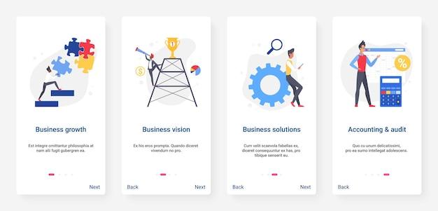 Visione del successo aziendale e raggiungimento della soluzione