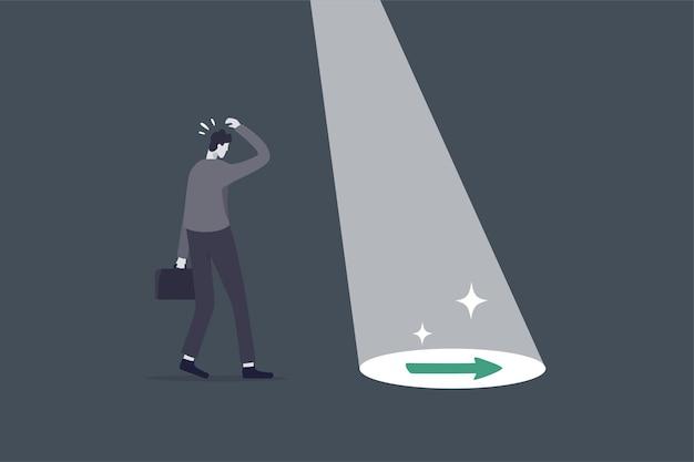 Il supporto aziendale o il mentore aiutano a scoprire la giusta direzione