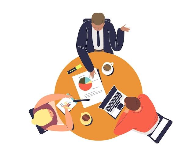 Illustrazione di brainstorming del team aziendale
