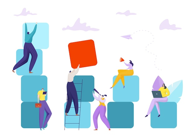 Illustrazione di concetto di squadra di affari